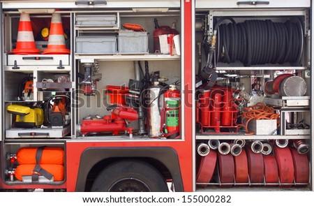 firemen equipment  - stock photo
