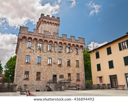 Firenzuola (Florence), Tuscany, Italy: ancient Praetorian palace in the old town
