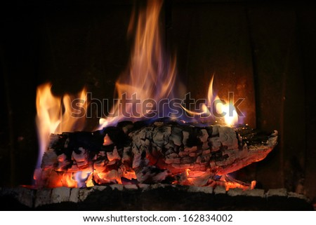 fireplace and flames