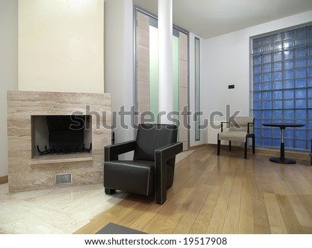 fireplace in modern living room