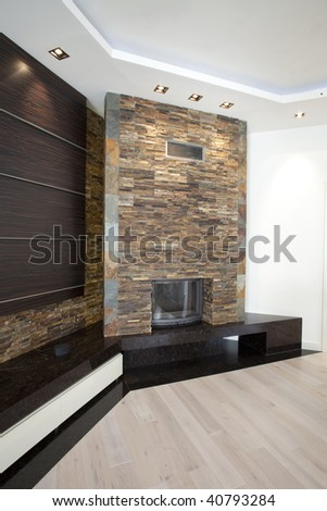fireplace made of natural stones