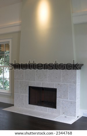 fireplace with stone and shell construction