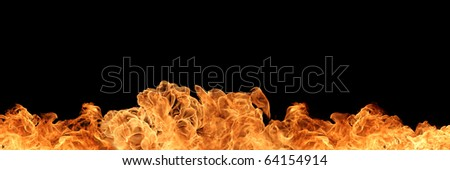 Firewall isolated on black background - stock photo
