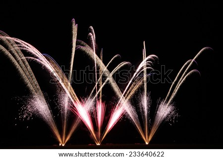 Firework - stock photo