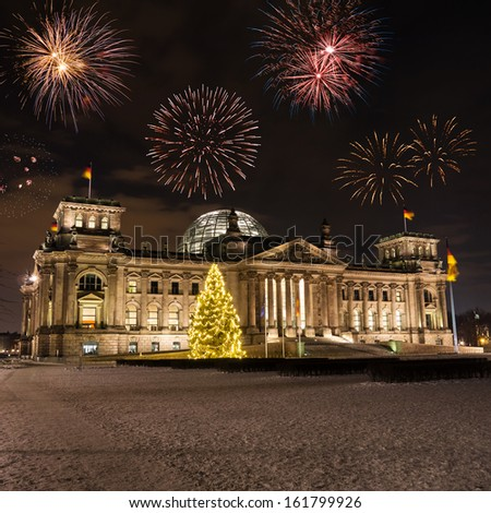 fireworks and german parliament