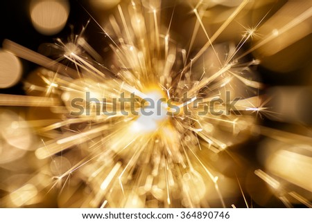 Fireworks at dark background. Abstract holiday background. - stock photo