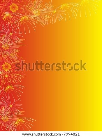 Fireworks background for christmas and new year. - stock photo