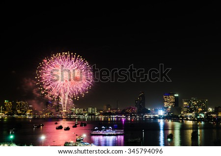 fireworks celebration in holiday ,new year