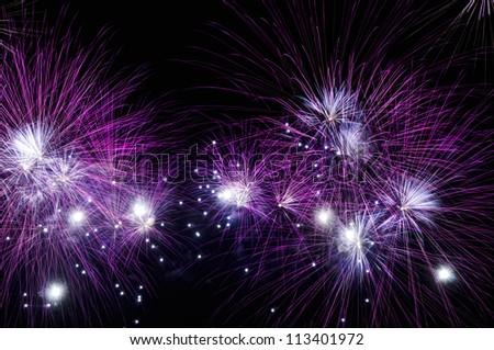 Fireworks during the New Year's celebration in the Philippines - stock photo