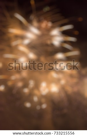 Fireworks festival theme creative abstract blur background with bokeh effect