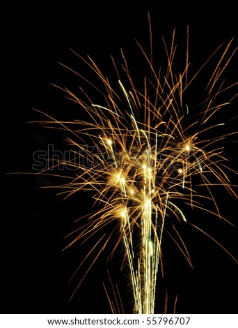 """Fireworks """"fountain"""" during finale - stock photo"""