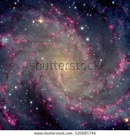 Fireworks Galaxy. Spiral galaxy in the constellations Cepheus and Cygnus. Elements of this image furnished by NASA.