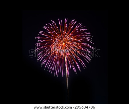 Fireworks  in a black background - stock photo