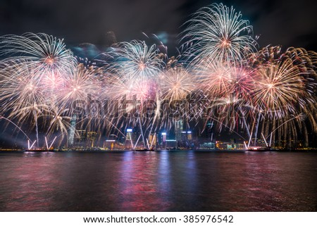 fireworks in Hong Kong for chinese new year