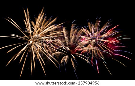 Fireworks in Montreal - stock photo