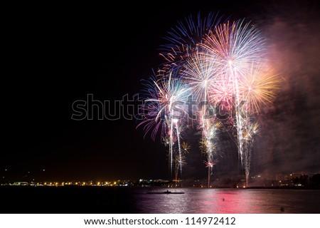 Fireworks in Salou - stock photo