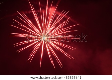 Fireworks in the sky - stock photo