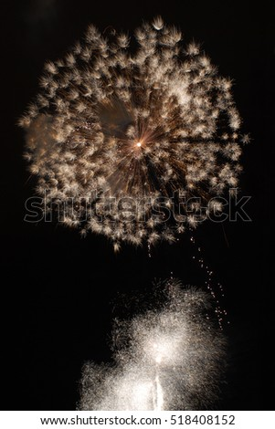 Fireworks isolated