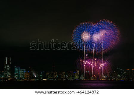 Fireworks of Yokohama, Japan