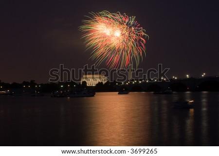 Fireworks, Washington DC - stock photo