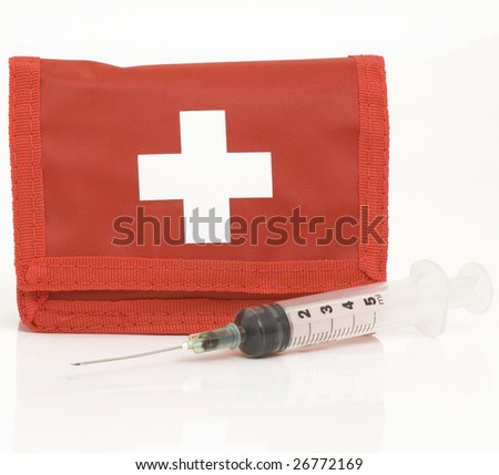 first aid bag - stock photo