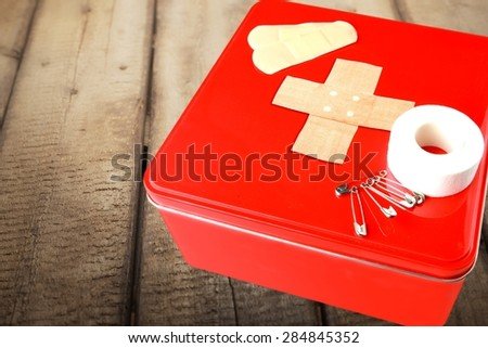 First Aid, First Aid Kit, Safety. - stock photo