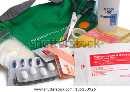 first-aid kit - stock photo