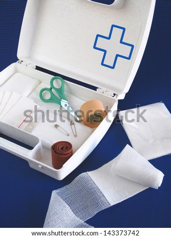 First aid kit - still life - stock photo