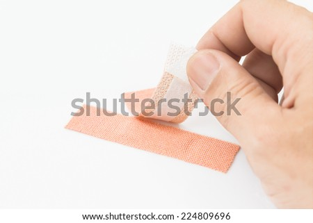 First aid plaster - stock photo