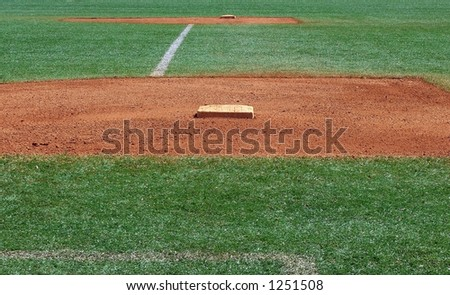first and second base - stock photo