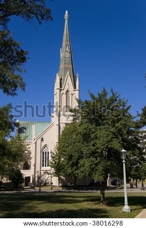First Baptist Church in Raleigh - stock photo