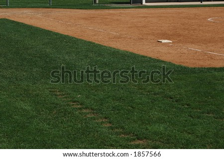 First Base Line - stock photo
