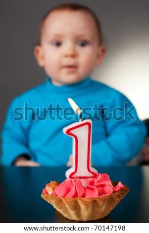 first birthday - stock photo