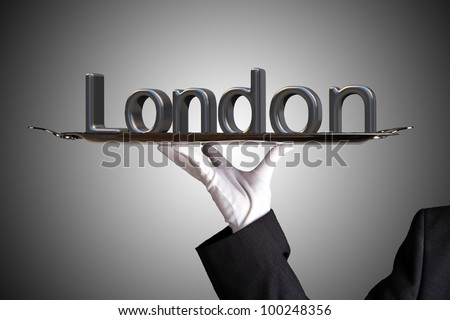 First Class Service in London - stock photo
