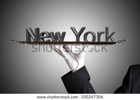 First Class Service in New York - stock photo