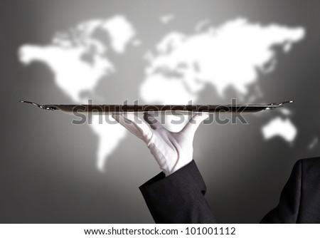 First Class Service Worldwide - stock photo