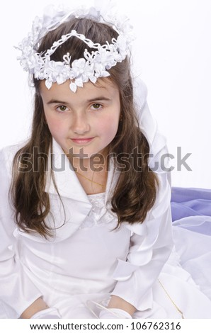 First Communion - stock photo