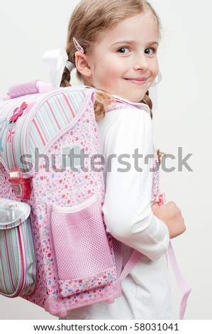 First day at school - stock photo