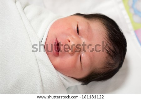 First day newborn baby