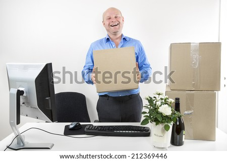 First day of work - stock photo