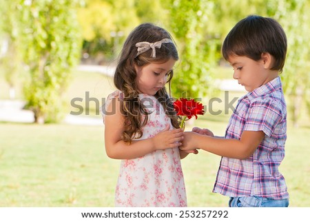 First love - stock photo