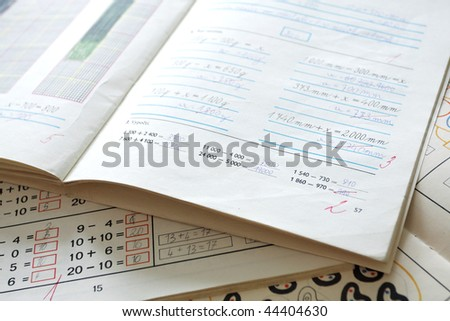 first operation arithmetical in exercise book