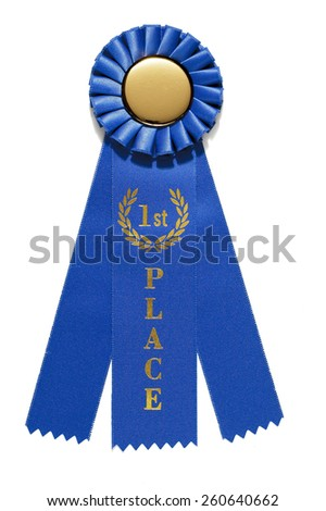 First Place Ribbon Award - stock photo