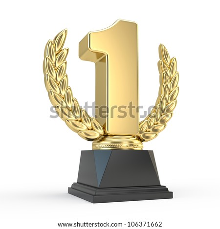 First place trophy cup - stock photo