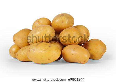 first plane of potatoes with white bottom