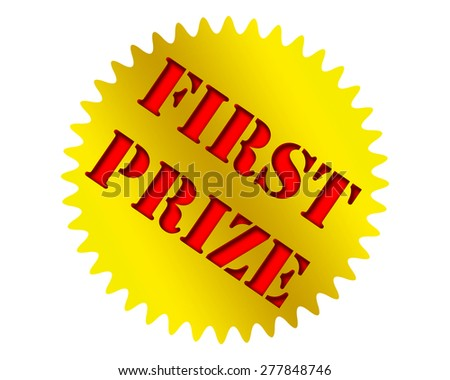 First prize icon. - stock photo