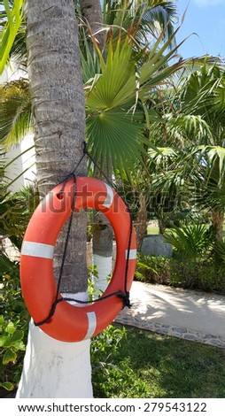 first response pool safety equipment - stock photo