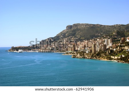 Fiscal paradise of Monaco in French Riviera - stock photo