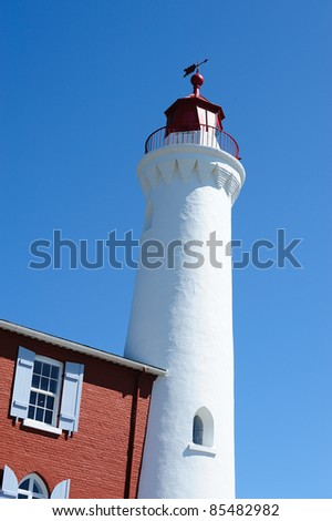 fisgard lighthouse at seashore, it is the first lighthouse built in vancouver island in 1860, victoria, british columbia, canada