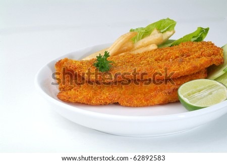 fish and chip - stock photo